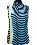 Jamie Sadock Women's Crinkle Wave Sleeveless Polo