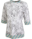 Lady Hagen Women's Marin 3/4-Sleeve Printed Top