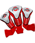Team Golf Ohio State Buckeyes NCAA Contour Sock Headcovers - 3 Pack
