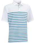 Ashworth Stretch Pique Engineered Stripe Polo