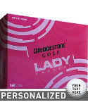 Bridgestone Women's Lady Precept Pink Personalized Golf Balls - 12 Pack
