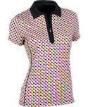 EP Pro Women's Bubble Dot Print Polo