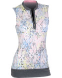 EP Sport Women's Tuileries Splatter Print Sleeveless Polo