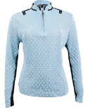 Jamie Sadock Women's Dippin' Dot Long Sleeve Polo