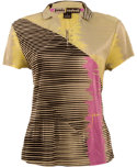 Jamie Sadock Women's Linear Abstract Print Polo
