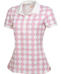 PUMA Women's Argyle Glitch Polo