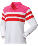 Slazenger Women's Tech Collection Long Sleeve Stripe Polo