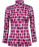 Tail Women's Wafer Print Long Sleeve Polo