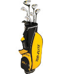 Top Flite Kids' XLj Complete Set (Ages 9-12) - Black/Gold