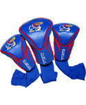 Team Golf Kansas Jayhawks NCAA Contour Sock Headcovers - 3 Pack