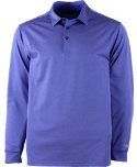 Walter Hagen Essentials Heathered Stripe Long Sleeve Polo