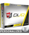 Wilson Staff Duo Yellow Personalized Golf Balls - 12 Pack