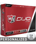 Wilson Staff Duo Spin Personalized Golf Balls - 12 Pack