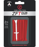 Zero Friction ZFTMaxx 2 3/4'' Red Golf Tees - 24 Pack