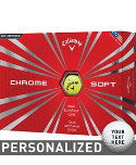 Callaway New Chrome Soft Yellow Personalized Golf Balls - 12 Pack