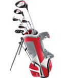 Top Flite Junior Complete Set (Ages 9-12) - Grey/Red