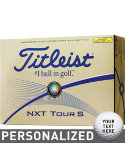 Titleist NXT Tour S Yellow Personalized Golf Balls - 12 Pack
