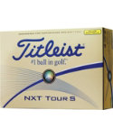 Titleist NXT Tour S Yellow Golf Balls - 12 Pack