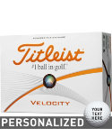 Titleist Velocity Personalized Golf Balls - 12 Pack