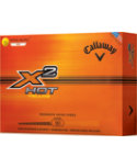 Callaway X2 Hot Yellow Golf Balls - 12 Pack