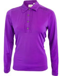 EP Pro Women's Pintuck Placket Long Sleeve Polo