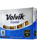 Volvik Crystal Orange Golf Balls - 12 Pack