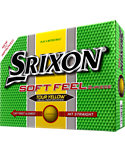 Srixon Soft Feel Tour Yellow Personalized Golf Balls - 12 Pack