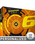 Bridgestone e6 Straight Flight Yellow Personalized Golf Balls - 12 Pack
