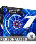 Bridgestone e7 Piercing Flight Personalized Golf Balls - 12 Pack