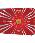 Callaway Chrome Soft Yellow Personalized Golf Balls - 12 Pack