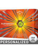 Callaway Super Hot Yellow Personalized Golf Balls - 12 Pack