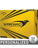 Callaway Warbird Yellow Personalized Golf Balls - 12 Pack