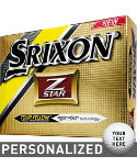 Srixon Z-Star Tour Yellow Personalized Golf Balls (ZStar 4) - 12 Pack