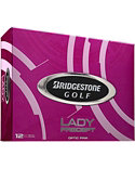 Bridgestone Lady Precept Optic Pink Personalized Golf Balls - 12 Pack