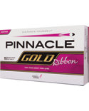Pinnacle Women's Gold Ribbon Personalized Golf Balls - 15 Pack