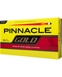 Pinnacle Gold Yellow Personalized Golf Balls - 15 Pack