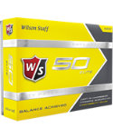 Wilson Staff Fifty Elite Yellow Personalized Golf Balls - 12 Pack