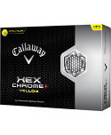 Callaway HEX Chrome+ Yellow Golf Balls - 12 Pack