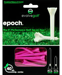 Evolve Golf Epoch 1 1/2'' & 2 3/4'' Pink Golf Tees - 40 Pack