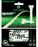 Evolve Golf Epoch-S3 1 1/2'' & 2 3/4'' Black Golf Tees - 40 Pack
