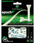 Evolve Golf Epoch-S3 1 1/2'' & 3 1/4'' Blue Golf Tees - 40 Pack