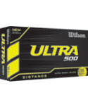 Wilson Ultra 500 Distance Yellow Golf Balls - 15 Pack