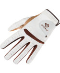 Bionic Women's RelaxGrip Golf Glove - White/Caramel