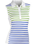EP Pro Women's Stripe Front Panel Sleeveless Polo