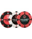 Odyssey Poker Chip Ball Markers - 3 pack
