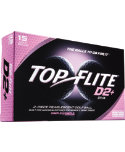Top Flite Women's D2+ Diva Golf Balls - 15 Pack