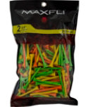 Maxfli 2 3/4'' Assorted Golf Tees - 200 Pack