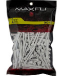 Maxfli 2 3/4'' White Golf Tees - 200 Pack