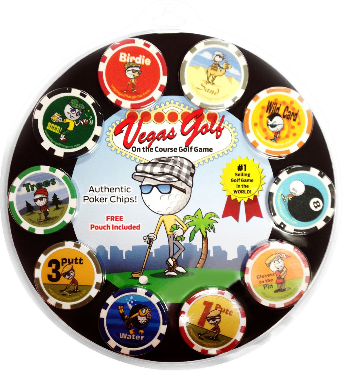 Poker chip golf game rules