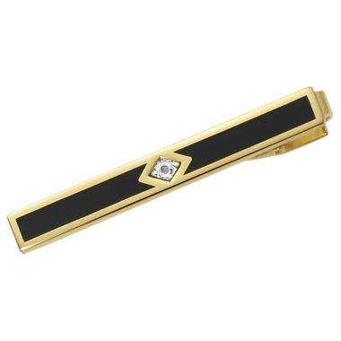 jcpenney.com | 22K Gold Electroplated Tie Bar w/Diamond Chip